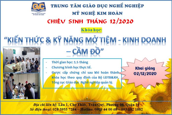 """2/12/2020  Khai giảng khóa học """"Kiến thức và kỹ năng mở tiệm kinh doanh vàng, cầm đồ"""""""